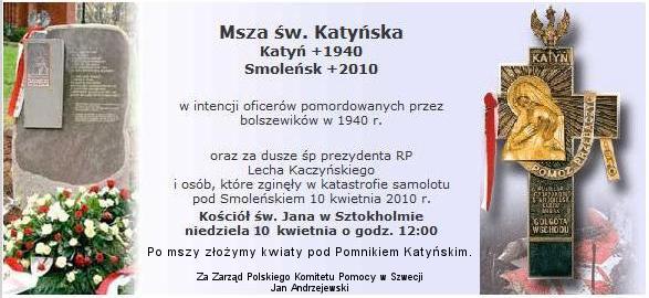 Msza św. Katyńska